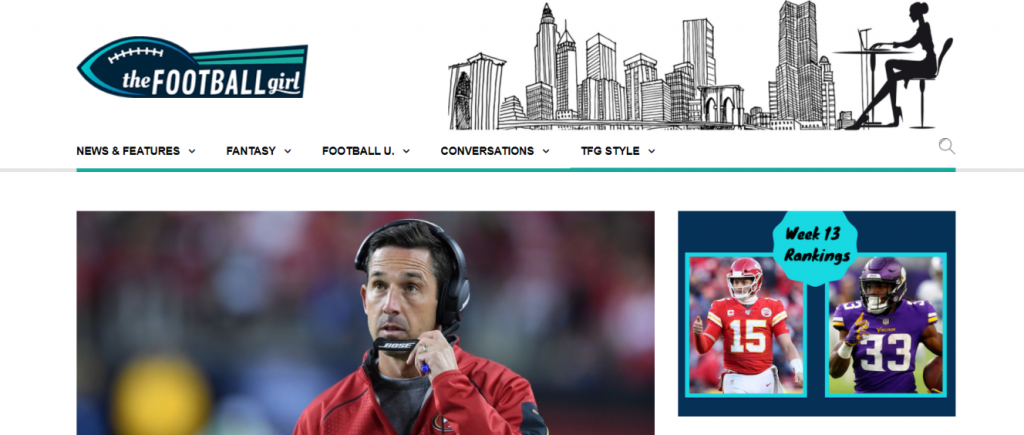 The football girl: NFL blog, website or influencer