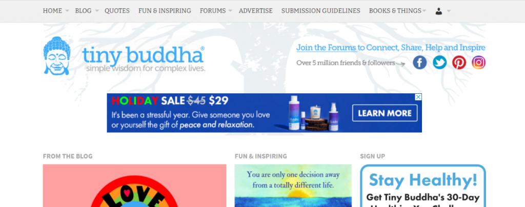 Tiny buddha: Inspirational blog and website