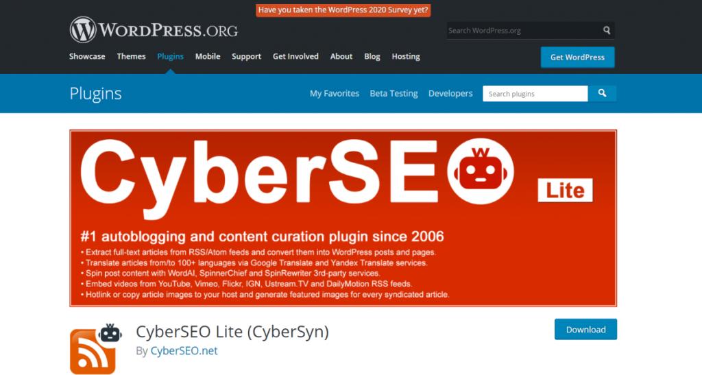 CyberSyn: Rss feed widget