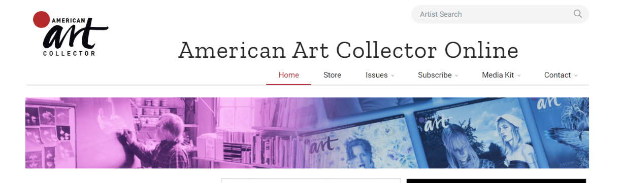 American art collector; Art magazine and publication