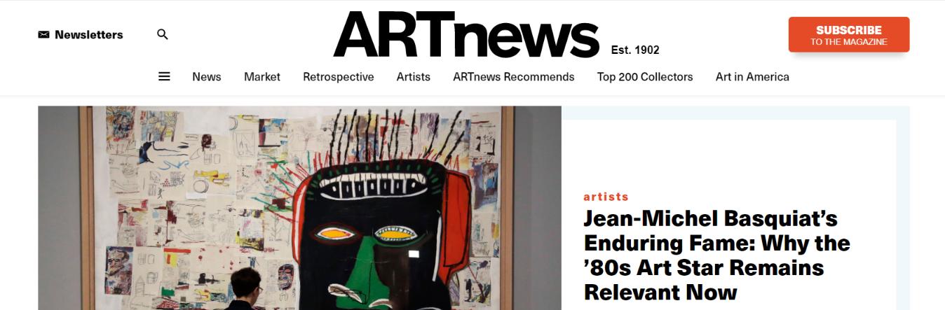 Art news: Art magazine and publication