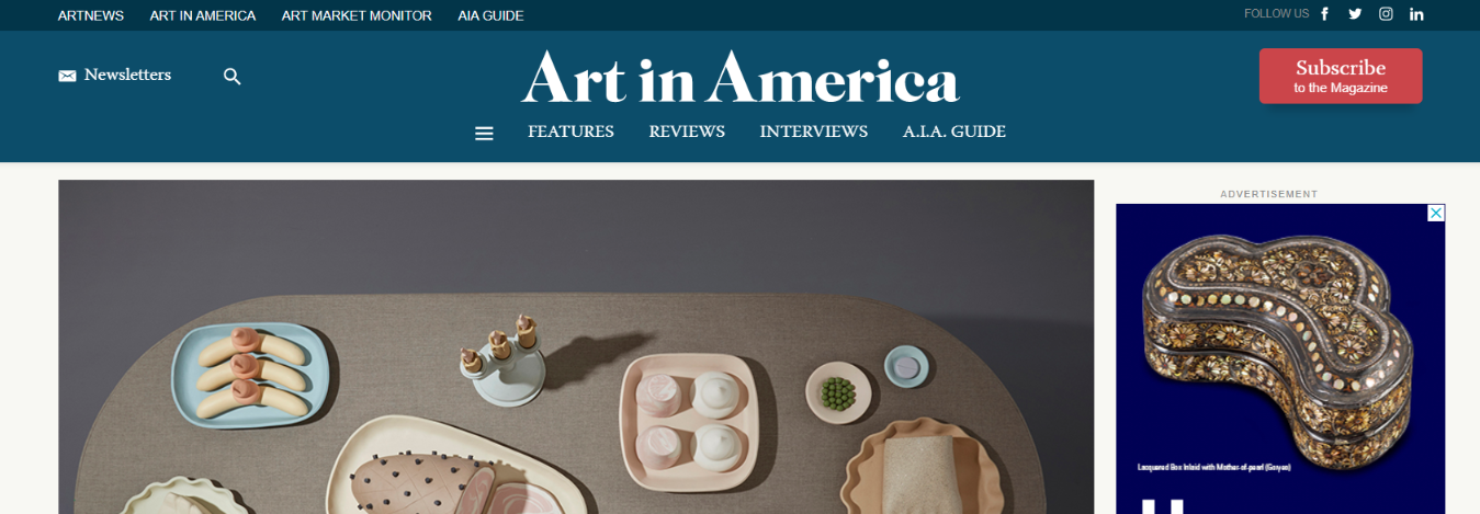 Art in america: Art magazine and publication
