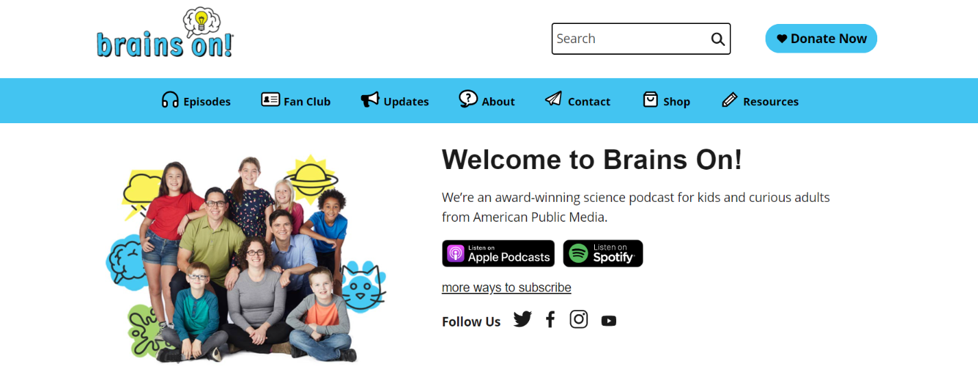 Brains on: Kids podcast