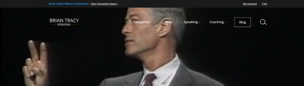 Brian tracy: Inspirational blog and website