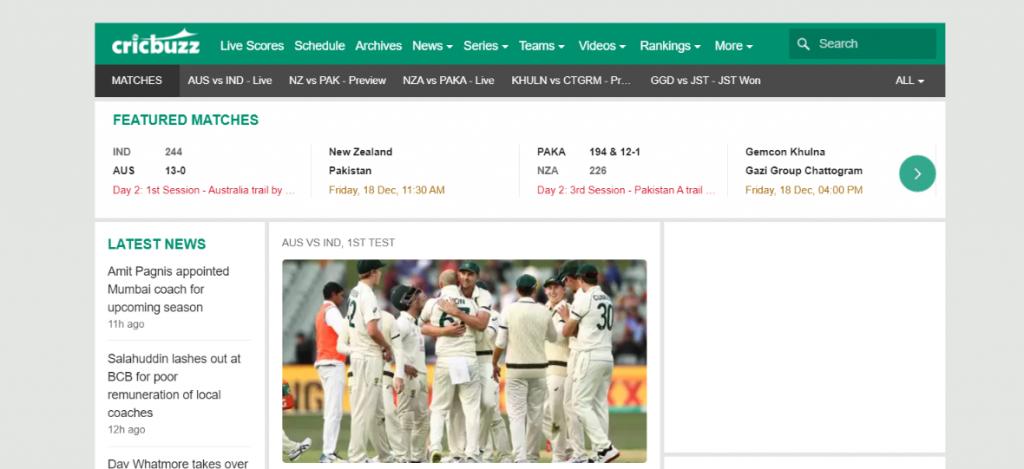 Cricbuzz: Cricket blog and Website