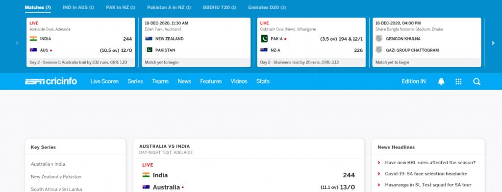 ESPN Cricinfo: Cricket blog and Website