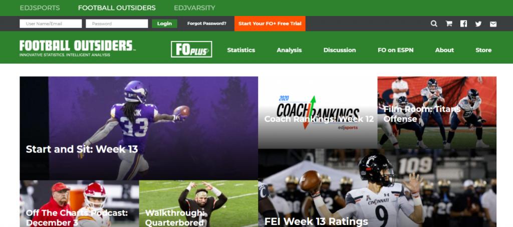 Football outsiders: NFL blog, website or influencer