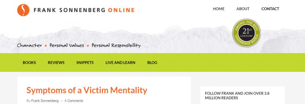 Frank sonneberg online: Inspirational blog and website