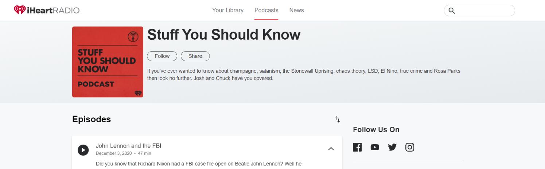 Stuff you shoud know: Kids Podcast