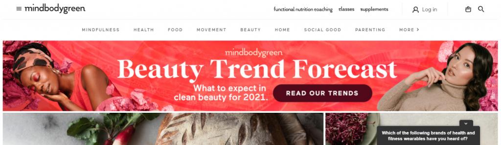 Mindbodygreen: Inspirational blog and website