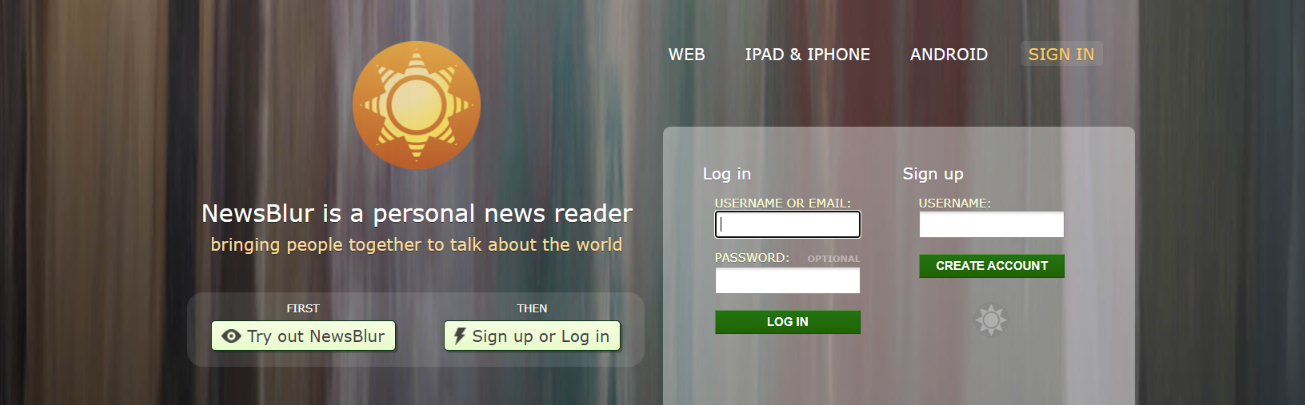 Newsblur: Tool to read rss feeds