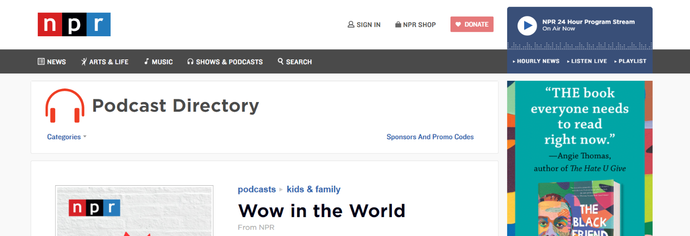 Wow in the world: Kids podcast