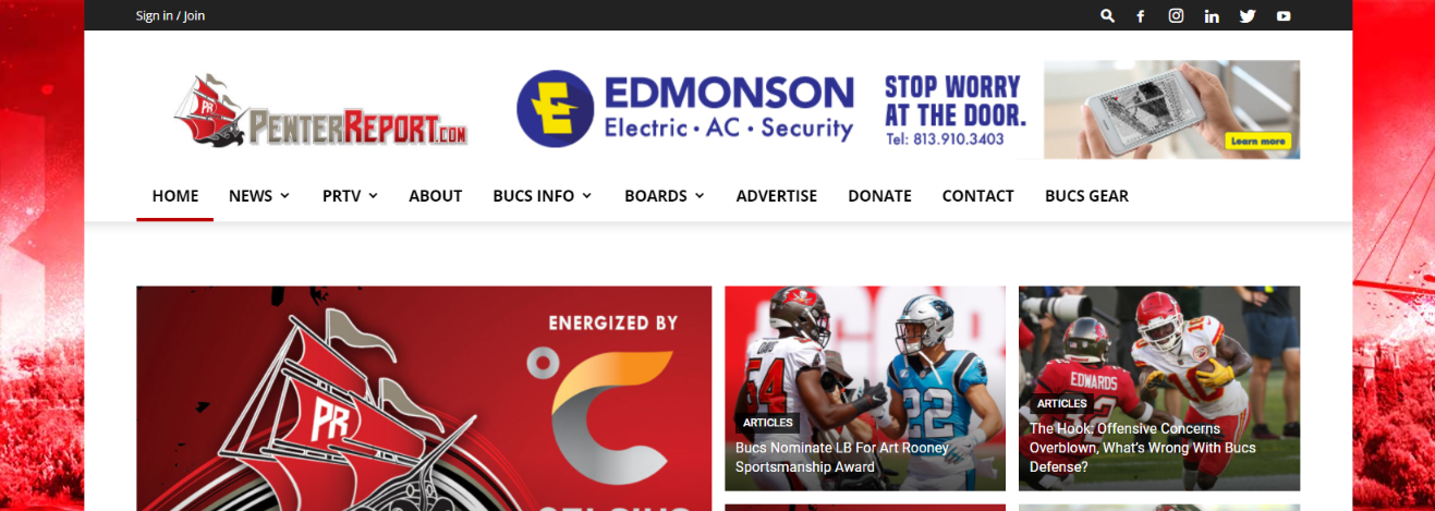 Pewter report: NFL blog, website or influencer