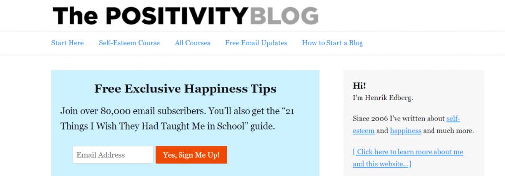 The positivity blog: Inspirational blog and website