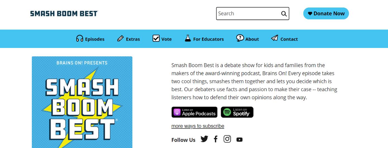 Smash boom best: Kids Podcast