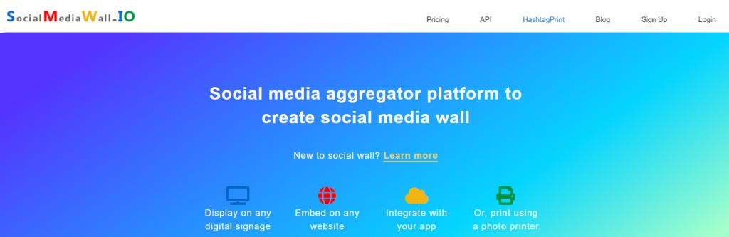 Socialmediawall.io: Social Media Aggregator