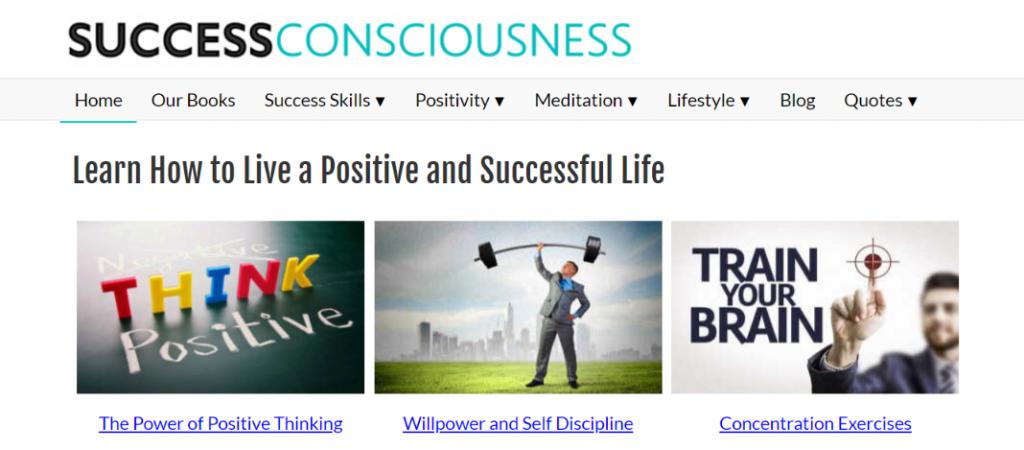 Success conciousness: Inspirational blog and website