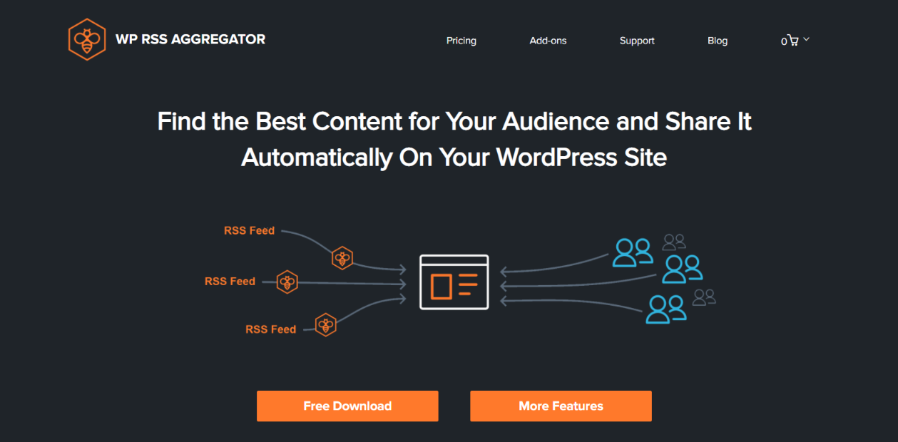 Wordpress Rss Aggregator: Rss feed widget