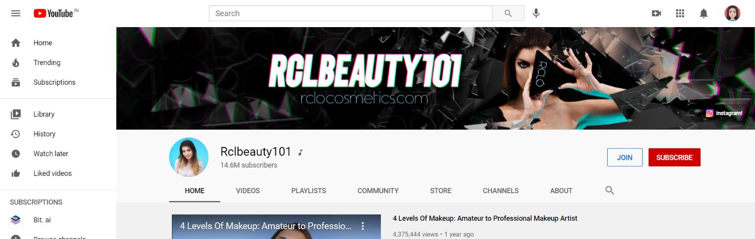 Rachel claire levin: Makeup youtube channel