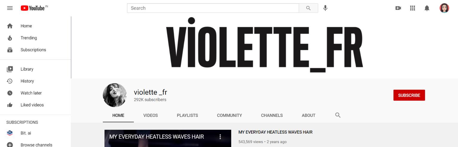 Violette_fr: Makeup youtube channel