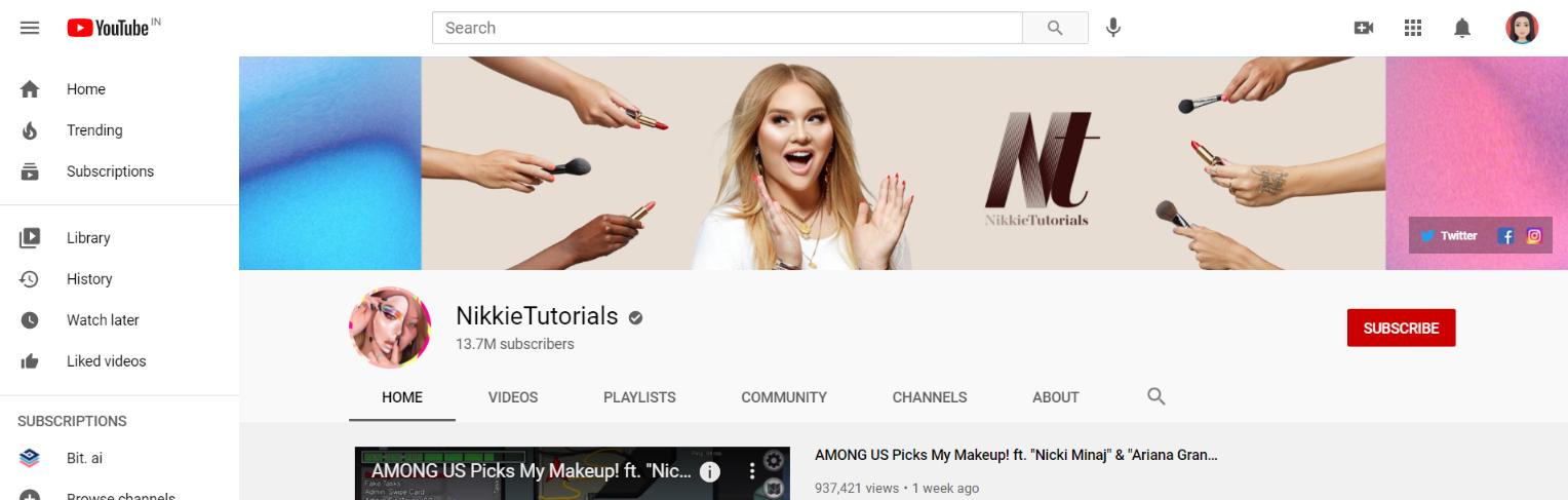 Nikkie tutorials: Makeup youtube channel