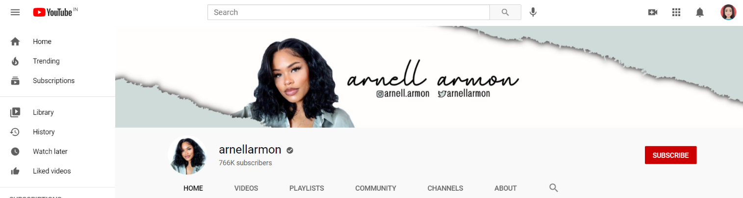 Arnell armon: Makeup youtube channel