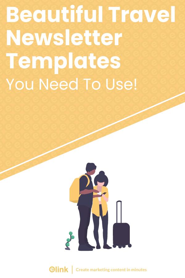 Travel newsletter templates - pinterest