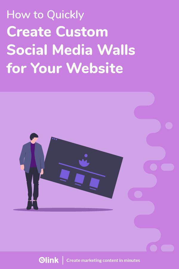 Social media wall - Pinterest