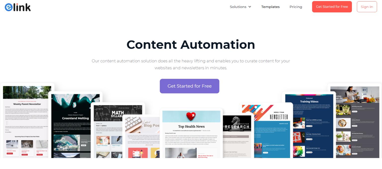Elink.io: Content marketing automation tool