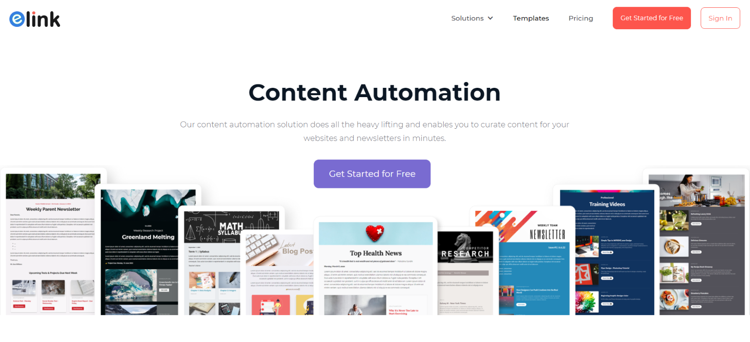 Elink.io: Content marketing automation tool