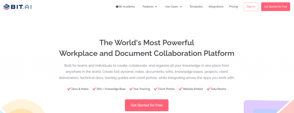 Bit.ai: Tool for creating marketing collateral