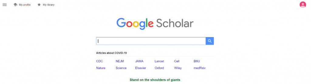 Google scholar: Tool for researchers