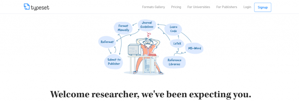 Typeset.io: Tool for researchers