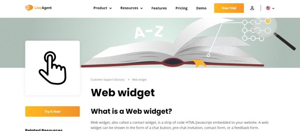 Live agent: Website widget