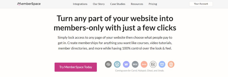 Memberspace: Squarespace plugin