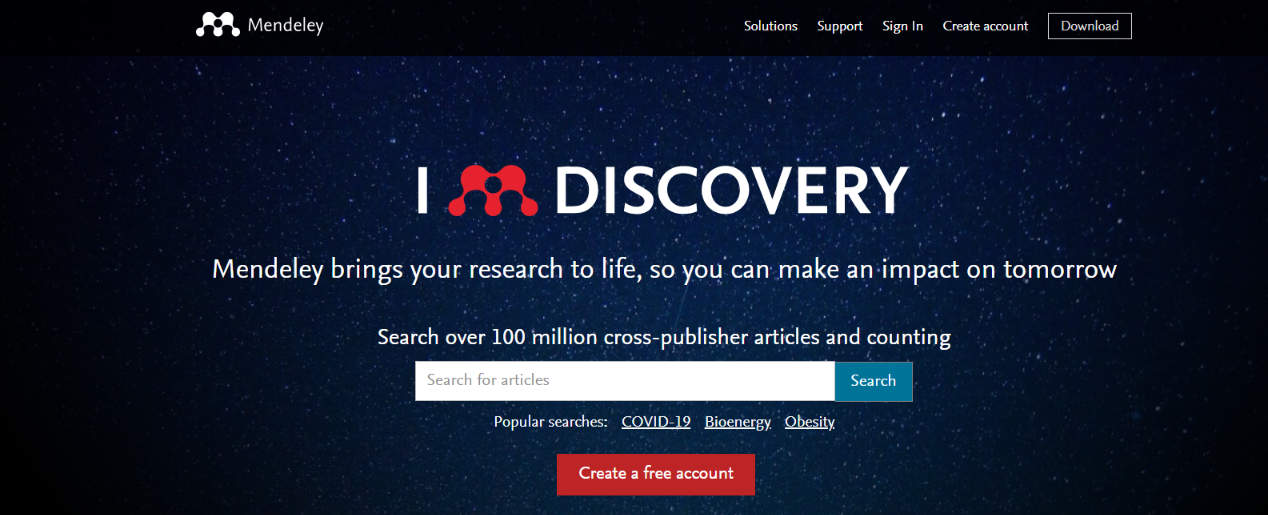 Mendeley: Tool for researchers