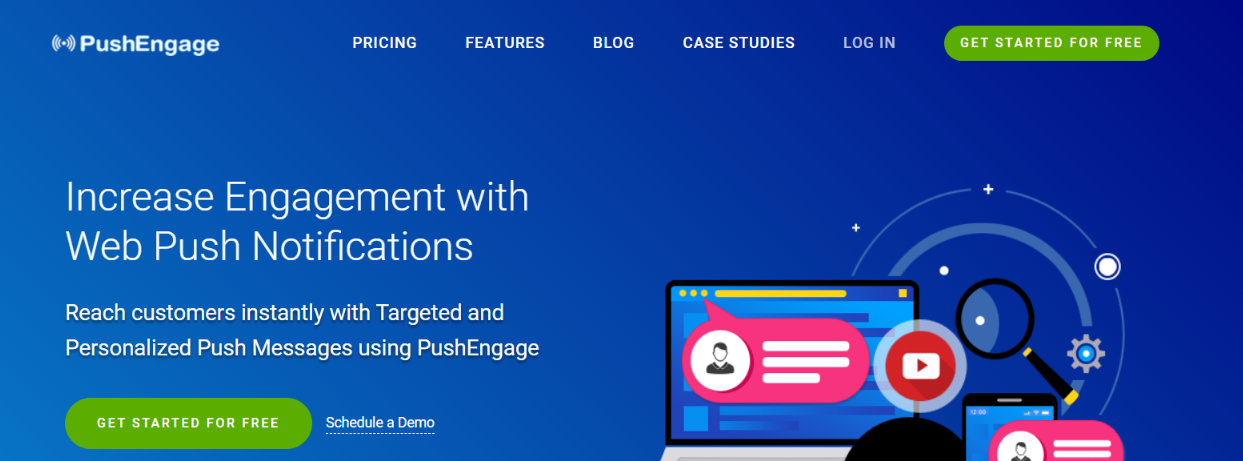 PushEngage: Website widget