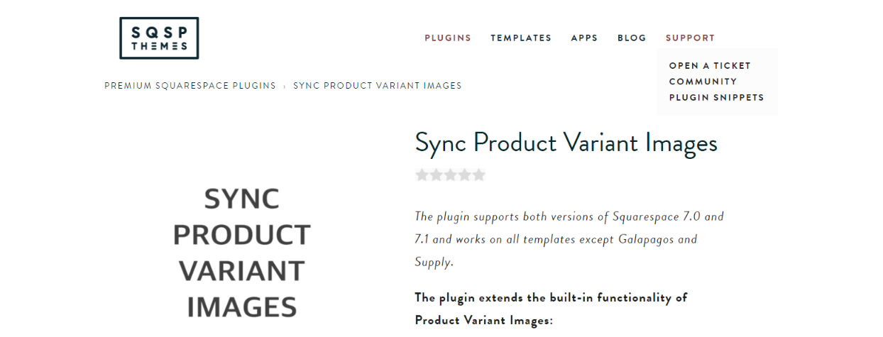 Sync product images with variants: Squarespace plugin
