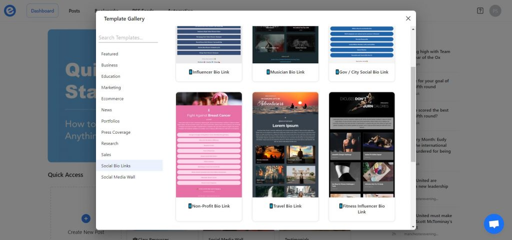 Preview of non profit newsletter templates