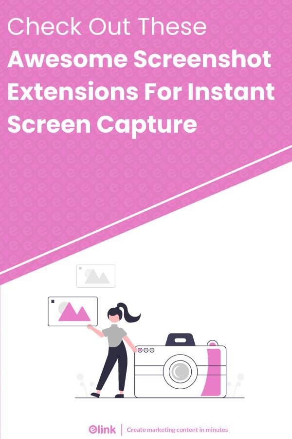 Screenshot extensions - Pinterest