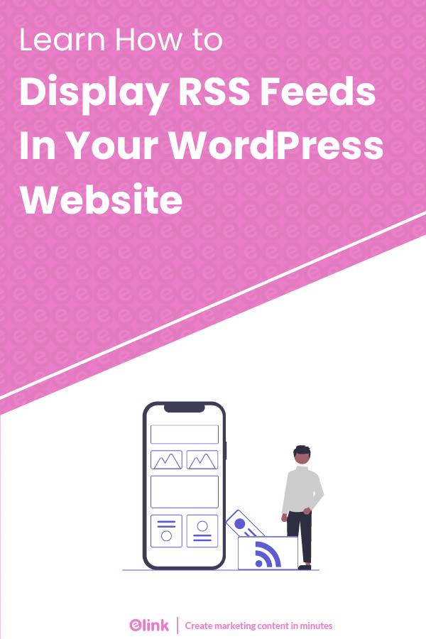 Display rss feeds in wordpress website - Pinterest