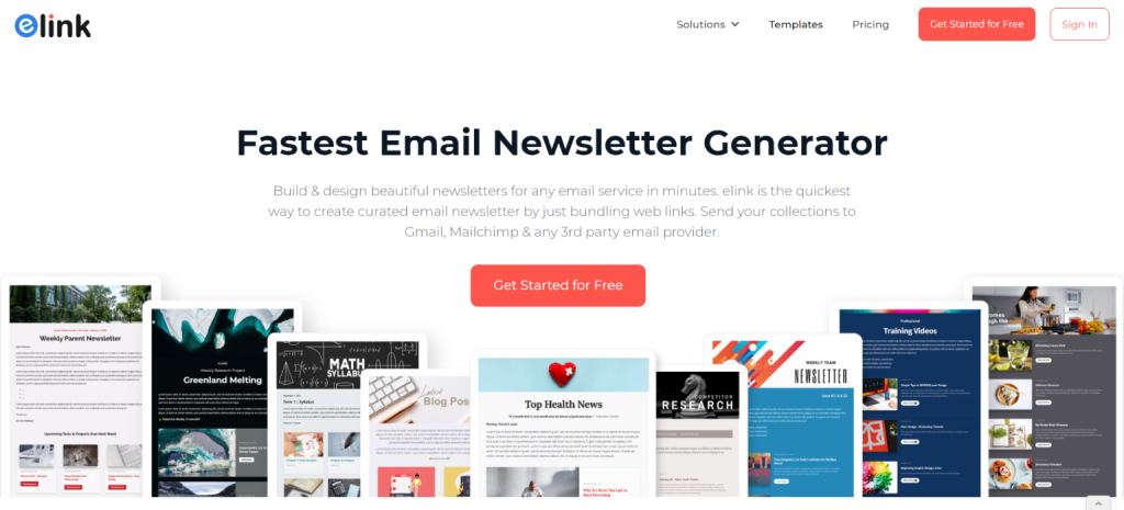 Elink: Tool for creating newsletters