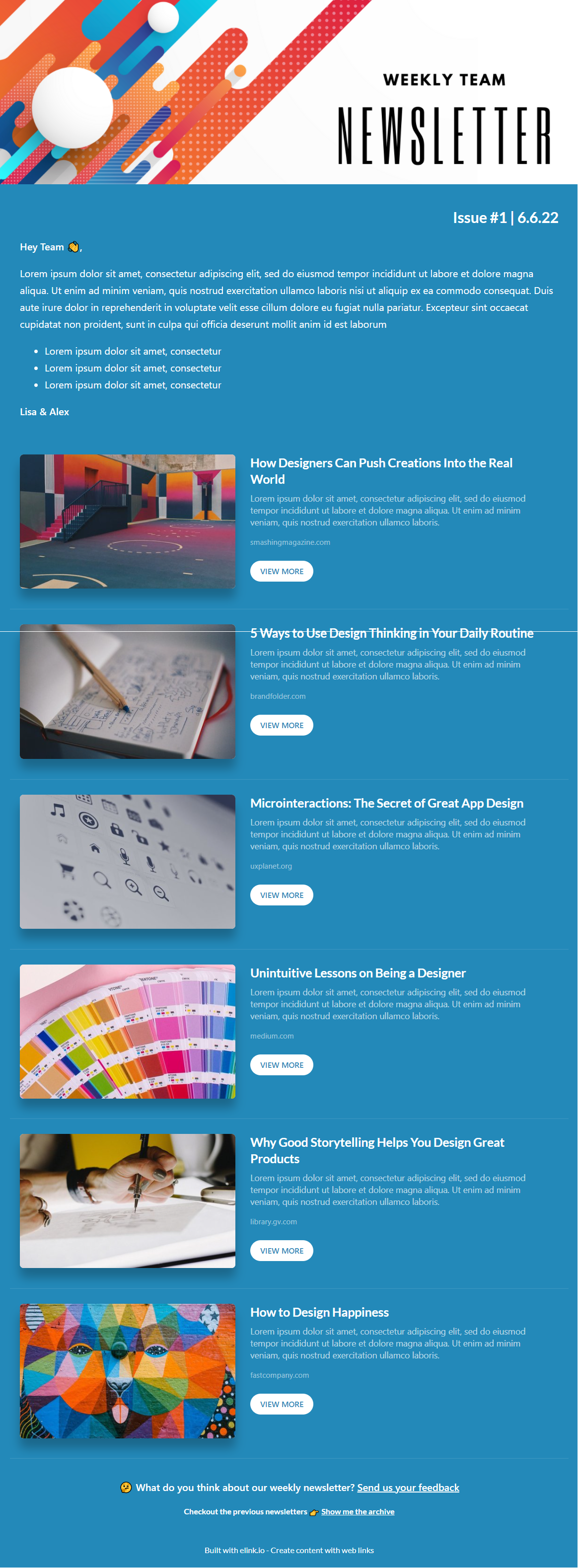 Team newsletter template for non profit
