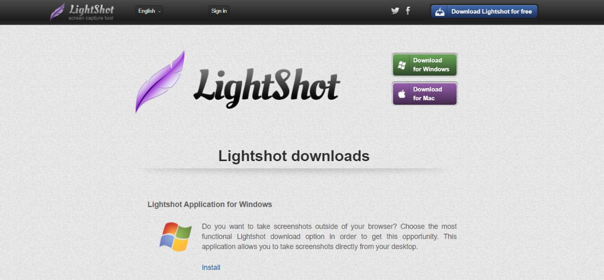 Lightshot chrome: Screenshot extension