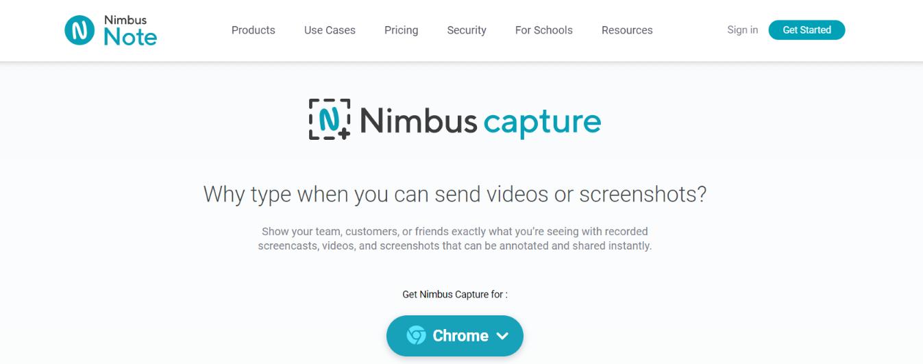 Nimbus screenshots: Screenshot extension