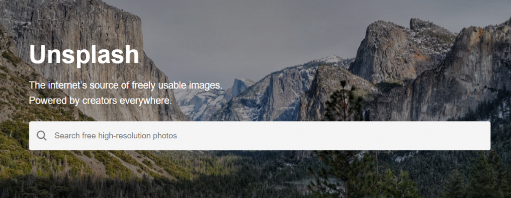 Unsplash: Tool for creating marketing collateral