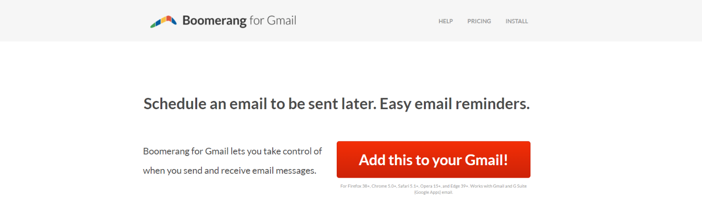 Boomerang: Gmail extension