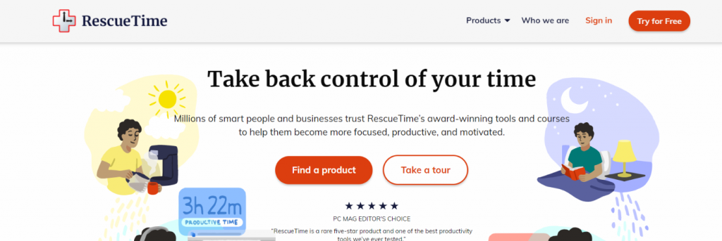 Rescuetime: Chrome extensions for productivity
