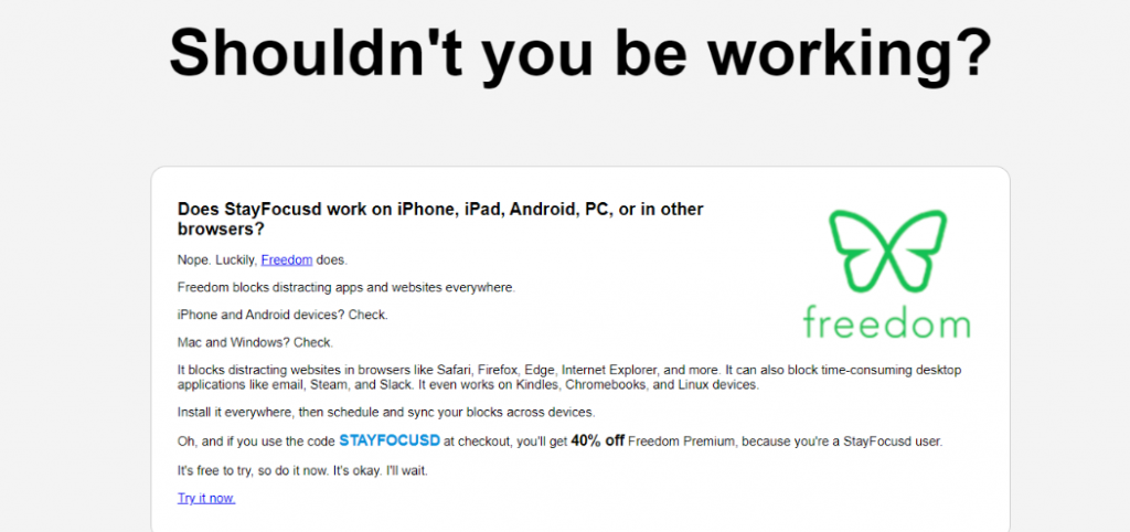 Stayfocusd: extensiones de Chrome para la productividad