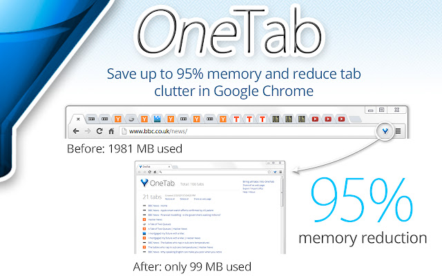 One tab: Chrome extension for productivity